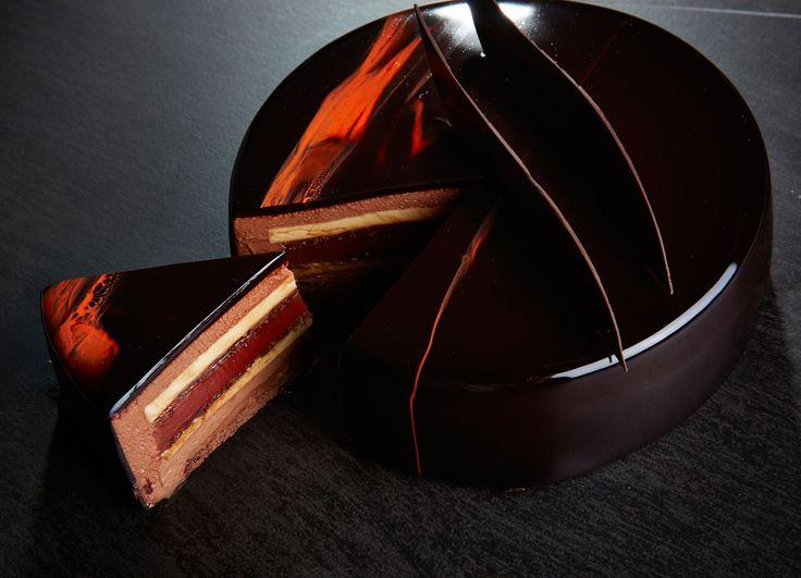 framboises boulangerie petit gâteaux mousse mousse au chocolat blanc ...