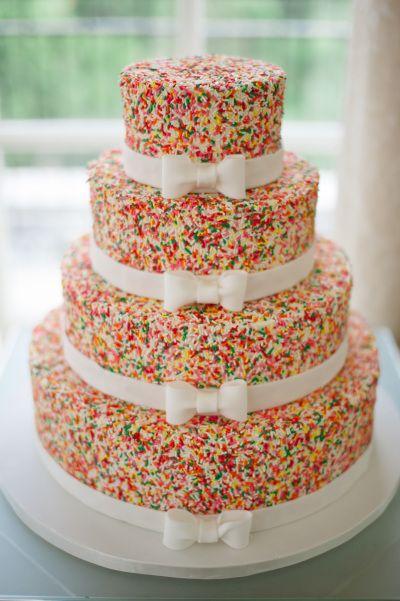 Funfetti Wedding Cake Bridal
