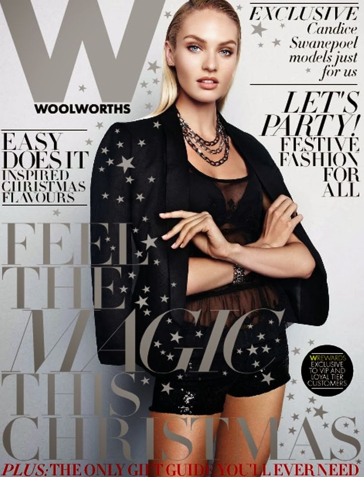 Candice Swanepoel for Woolworths Magazine SA 2013 Cover