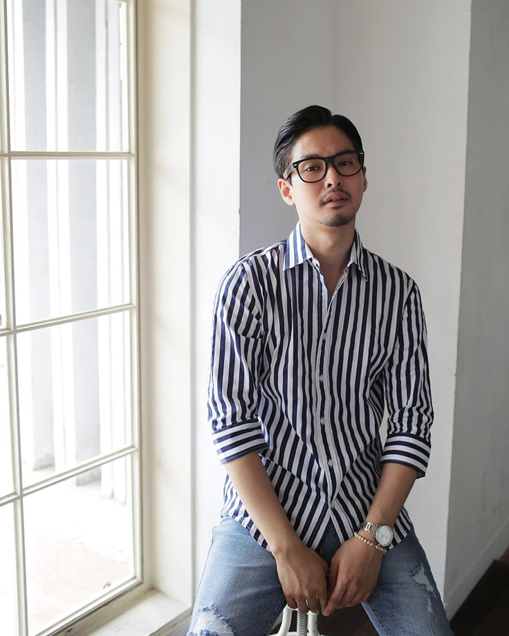 7分丈スリーブストライプパターンシャツ・全2色シャツチェックシャツ|レディースファッション通販 DHOLICディーホリック [ファストファッション 水着 ワンピース]