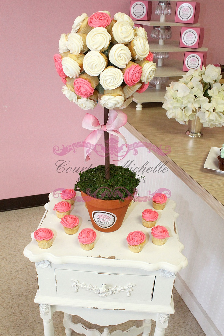 http://blog.courtneymichellephotography.com/  Cupcake Flower Pot by Simply Sweet Cupcake Boutique- Mobile, AL