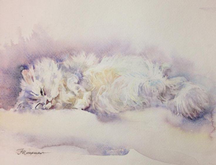 Lazy Sunday... Étude #акварель #watercolor 2014. Ленивое воскресенье.
