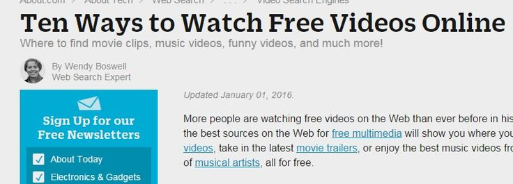 Ten Ways to Watch Free Videos Online