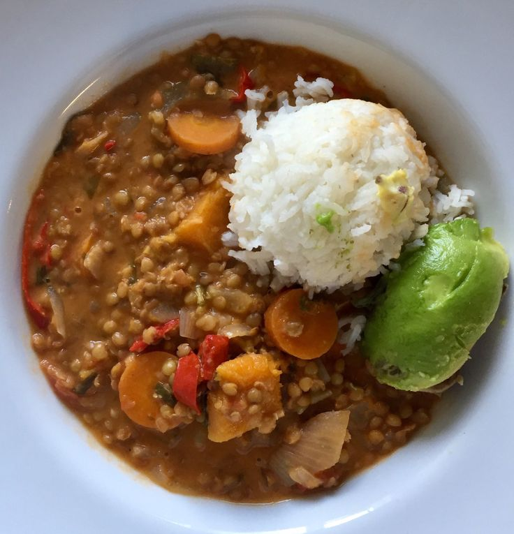 Another Meatless Monday, another Meatless Monday recipe. A nice, chunky lentil stew, I like to make a semi-Thai version lots of Cilantro, coconut milk to add creaminess, and  a little Curry po…