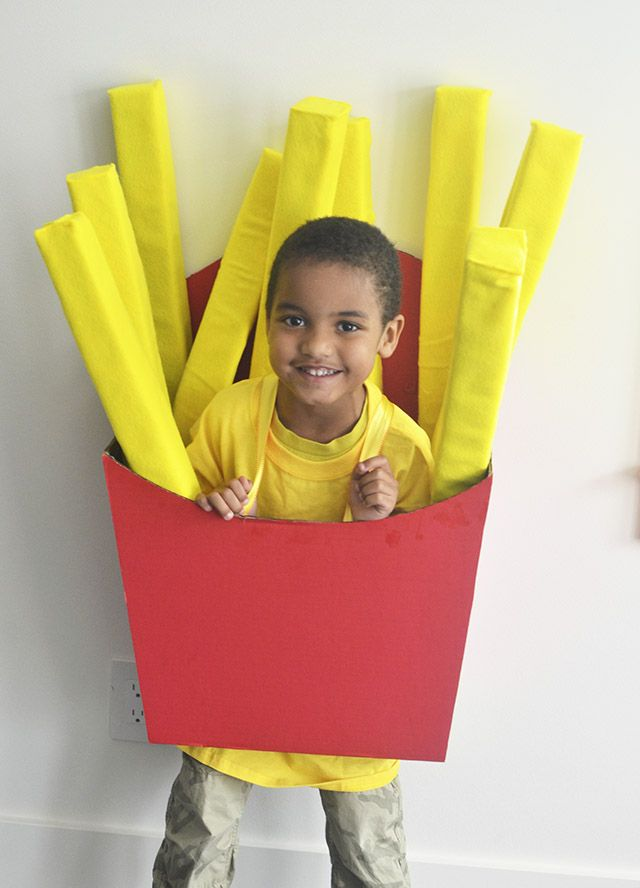 How to make a kids Fry box costume – Michaels Makers DIY costume challenge | Jenallyson - The Project Girl - Fun Easy Craft Projects including Home Improvement and Decorating - For Women and Moms