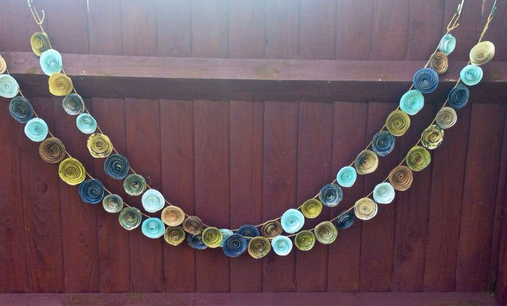 Handmade paper flower garland. Wedding or party decoration. Photo backdrop by Emmyloucrafts on Etsy https://www.etsy.com/listing/227157419/handmade-paper-flower-garland-wedding-or