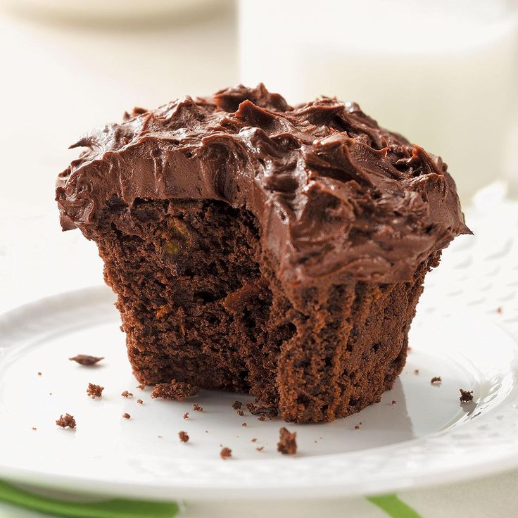 Chocolate Zucchini Cupcakes Recipe -Our grandkids love these cupcakes and don't believe us when we tell…