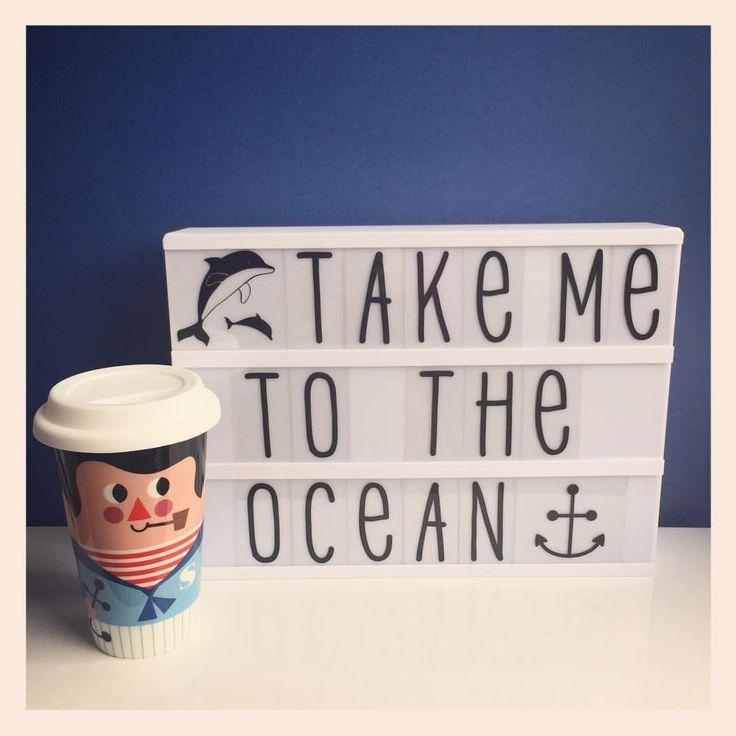 "58 Likes, 1 Comments - deco-graphic.com (@decographic) on Instagram: ""Take me to the ocean #travelmugs #marin #sailor #ingelaparrhenius #ommdesign #lightbox…"""