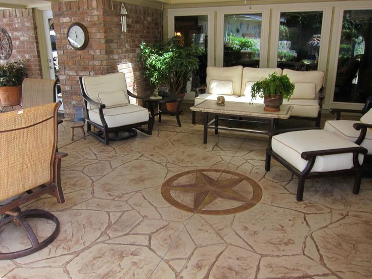 Stamping Concrete Patios With Patterns U0026 Designs Can Instantly Enhance  Aesthetics And Function. CALL (