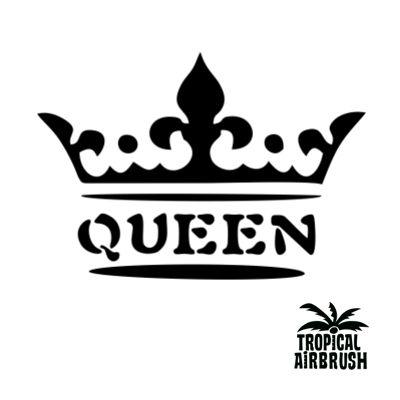 #Queen – Tropical Airbrush Tattoo Gesamtfoliengröße: 14×10,7cm #Mylar #Mehrfachfolie Mylar #Folien sind dicker und mehrfach verwendbar. Nicht selbstklebend. Einfache Anwendung mit Sprühkleber. Ideal für temporäre #Airbrush-Tattoos und #Bodypaintings. Alle unsere #Folien sind mit #Lasertechnik produziert worden und dadurch sehr präzise