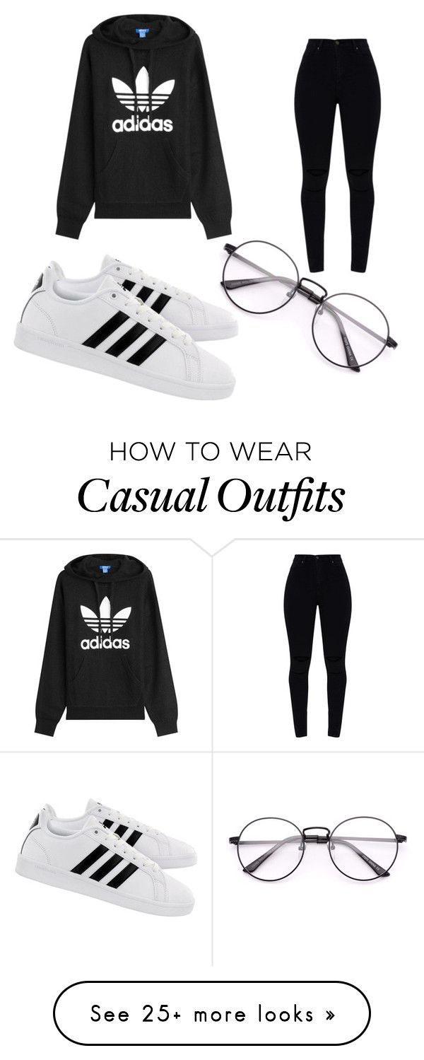 """""""Casual Outfit"""" by cheyennepinson on Polyvore featuring adidas Originals and adidas"""