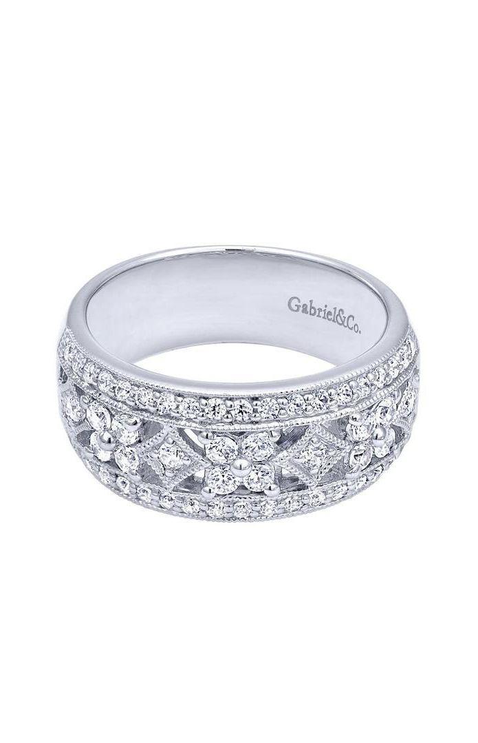 14k White Gold Victorian Fashion Ladies' Ring beautiful wedding band!! woah