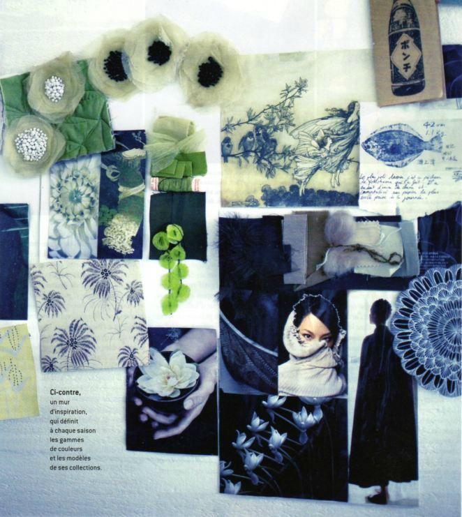 photo du mur d'inspiration par Nathalie Baetens pour Côté Paris, oct-nov 2012 idea board of Nathalie Baetens.