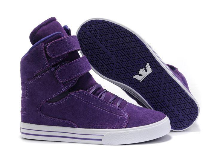 Niños Supra españa TK Society Púrpura Blanco Zapatos