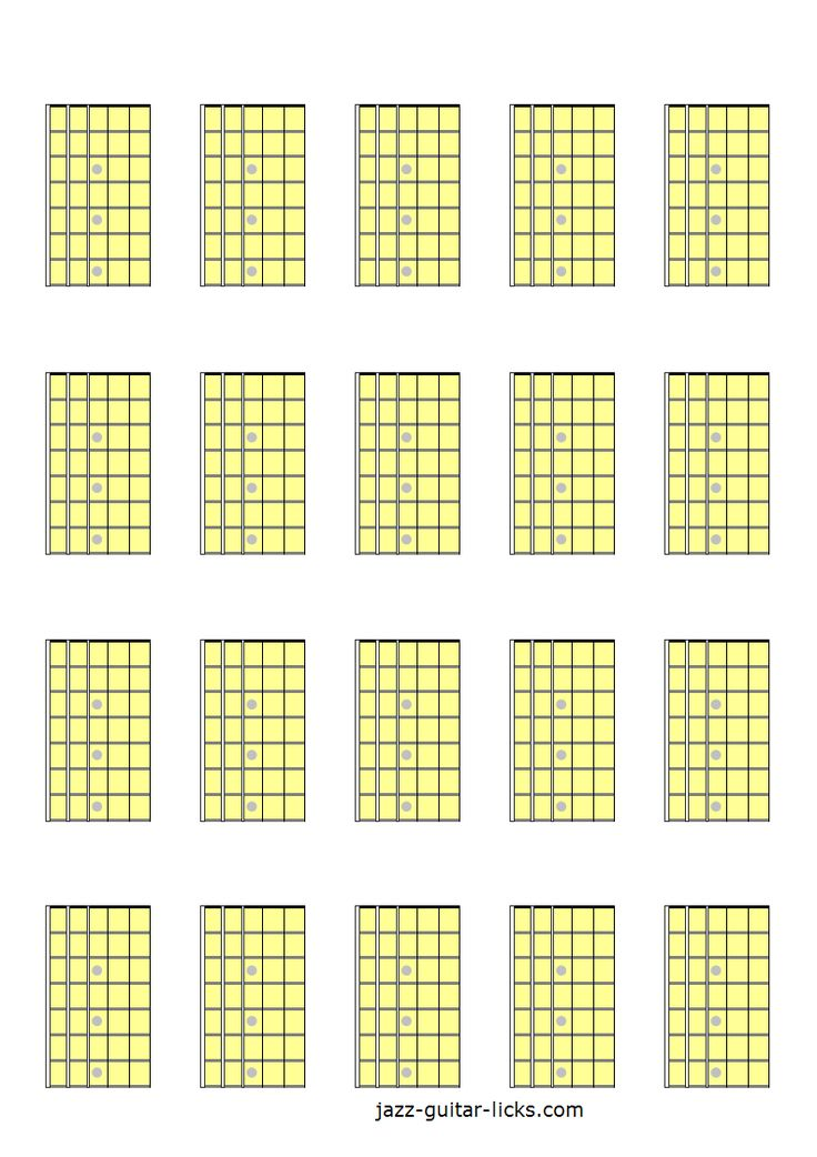 7 best Printable blank guitar fretboard diagrams images on Pinterest ...