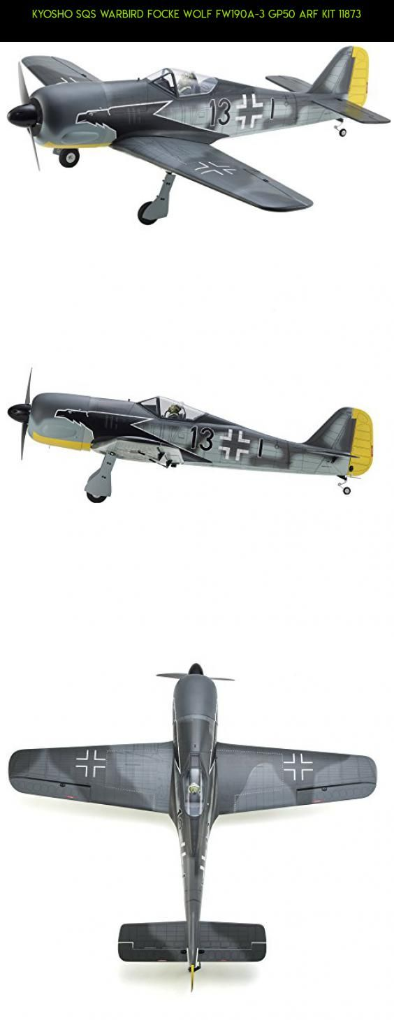 KYOSHO SQS Warbird Focke Wolf Fw190A-3 GP50 ARF kit 11873 #kit #gadgets #tech #technology #racing #parts #airplane #drone #plans #camera #fpv #kyosho #products #shopping