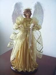 Resultado de imagen para como hacer angeles de tela para navidad
