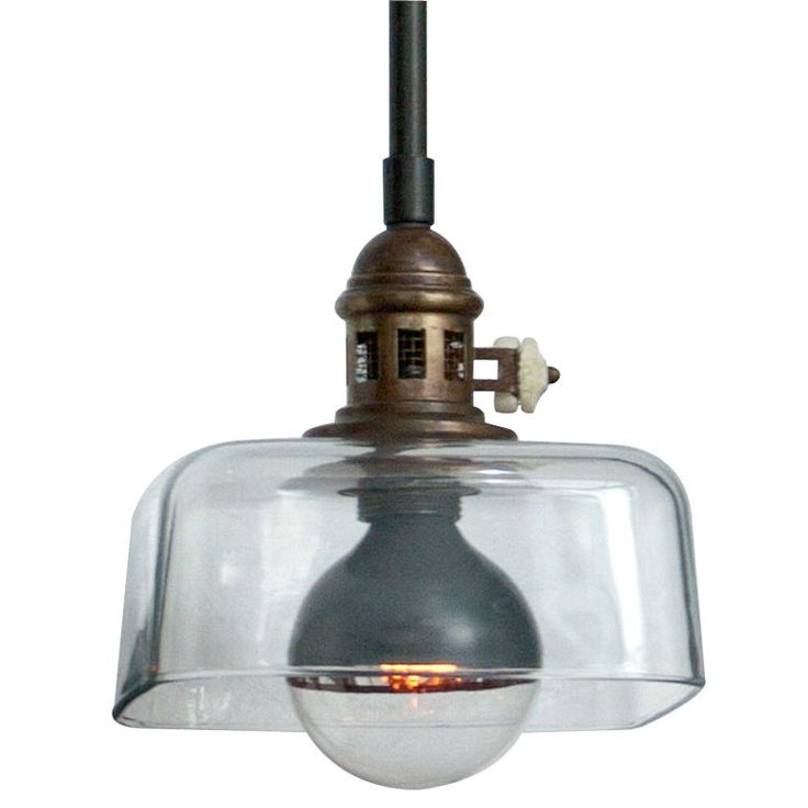 1940s Italian Square Industrial Lamp (looks like an upside down pyrex baking dish!)