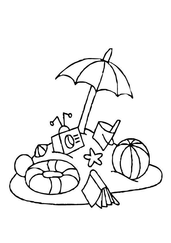 Print Coloring Image Momjunction Beach Coloring Pages Designs Coloring Books Summer Coloring Pages