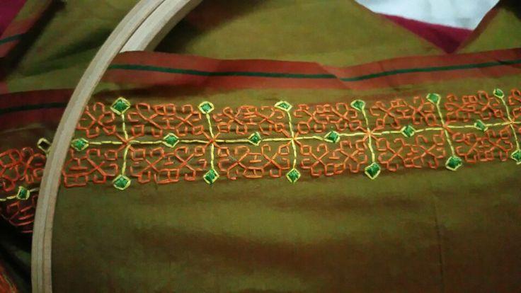 Kasuti embroidery border