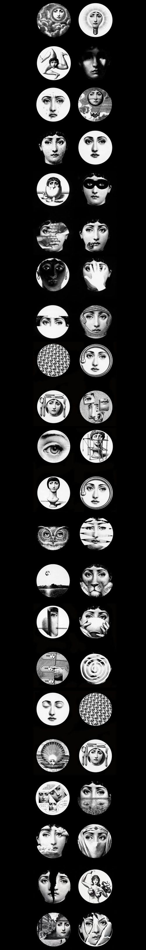 Piero-Fornasetti - one of my all-time favorite artists!