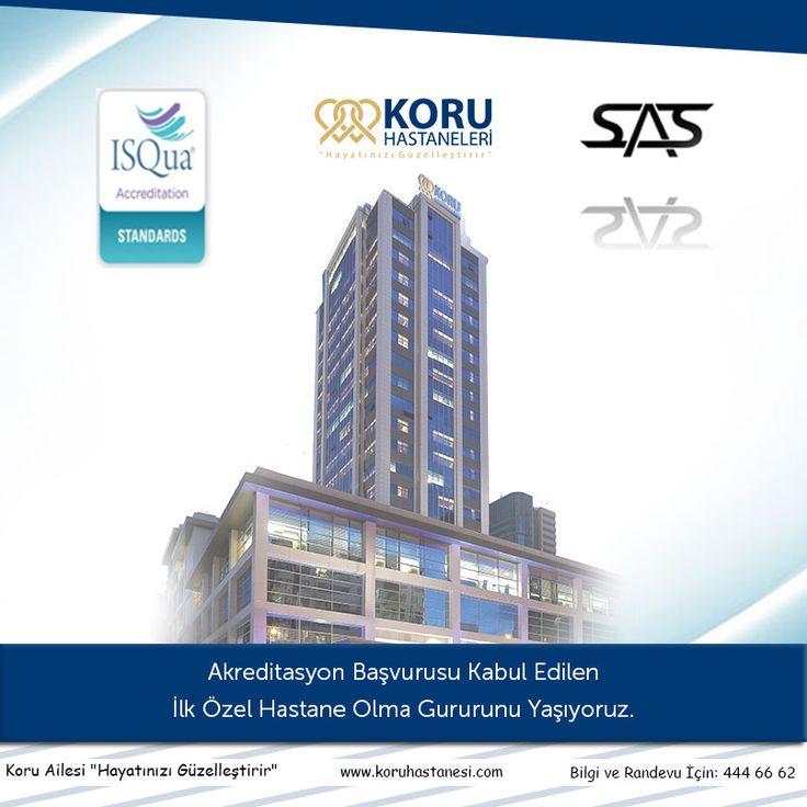 Akreditasyon Başvurusu Kabul Edilen  İlk Özel Hastane Olma Gururunu Yaşıyoruz... www.koruhastanesi.com #Akreditasyon #koruankara #ilk
