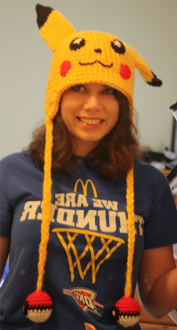 Crocheted Pikachu hat! by Julzabelle.deviantart.com on @DeviantArt