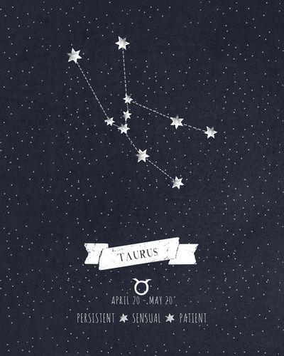 Taurus Constellation Print Art Print by Angelina Perdomo | Society6