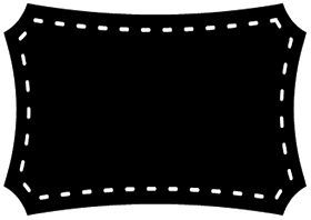 Etiquetas en Blanco y Negro para Imprimir Gratis.