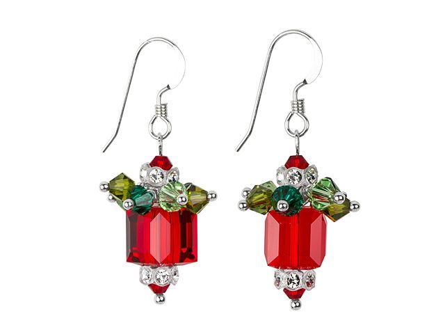 Swarovski Glitzy Glam Gift Earrings Kit - Red