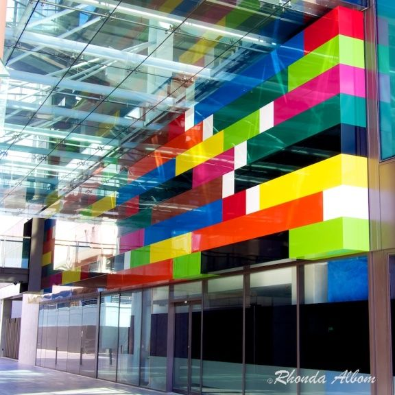 Auckland waterfront artwork called Achy Breaky Heart by Michael Parekowhai based on Cuisenaire rods
