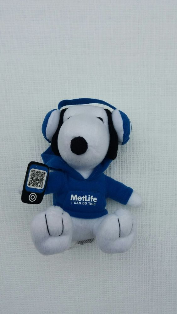 Metlife Snoopy Plush, Blue Headphones   Collectibles, Animation Art & Characters, Animation Characters   eBay!