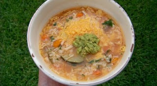 """On the Border"" - Chicken Tortilla Soup (recipe from a bag of OTB tortilla chips)"