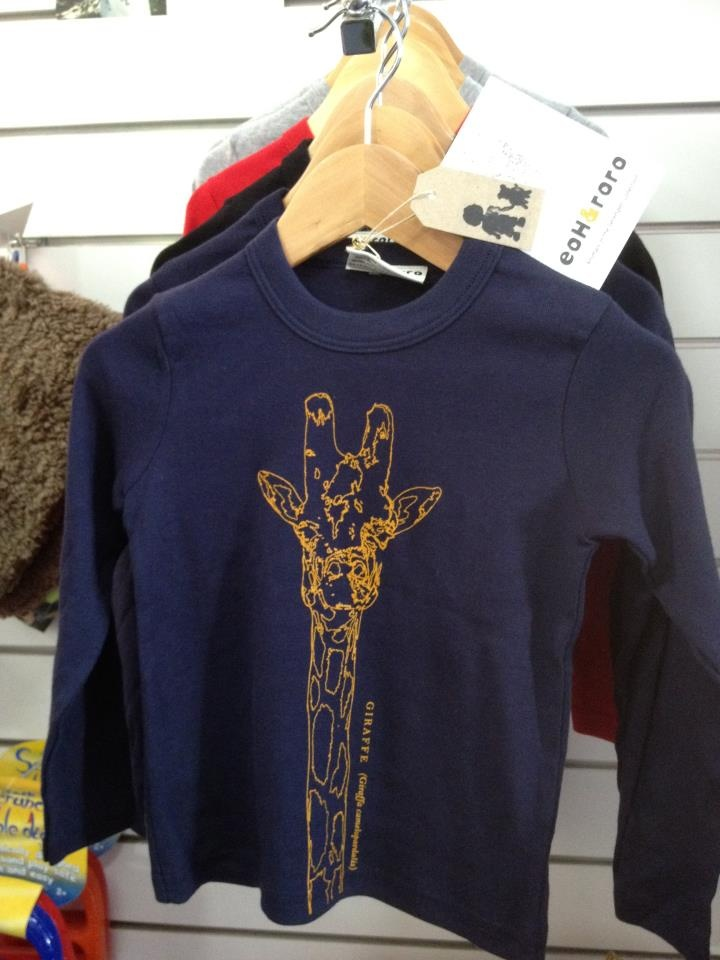 Locally designed and screen printed on fab american apparel long sleeved Tees..... by Eoh and roro- Sizes 2 to 6 years. $30
