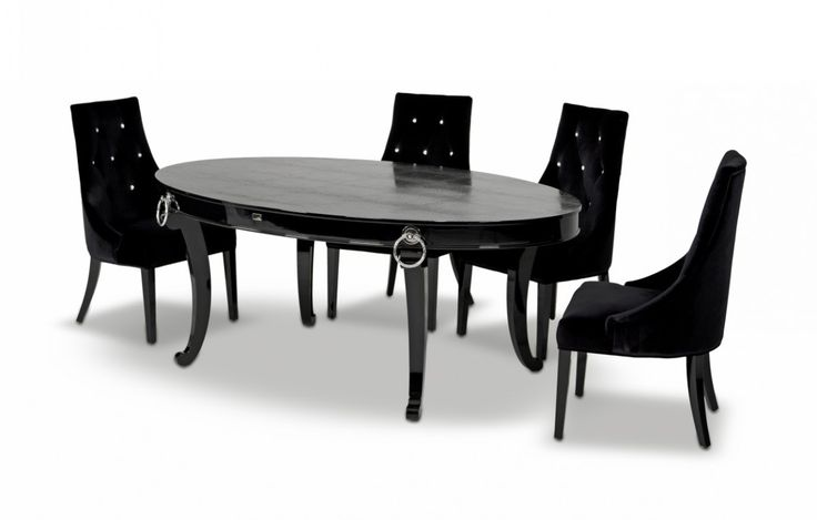 """A&X Bellagio Luxurious Crocodile Transitional Dining Table VGUNRC831-202-BLK $3288  Product : 15079 16524  Feature :  Modern dining table Strong and sturdy construction Elegant Style Features a Crocodile Textured Top Excellent Craftsmanship Unique Design Dimension :   Dining table: W80"""" x D47"""" x H31"""""""