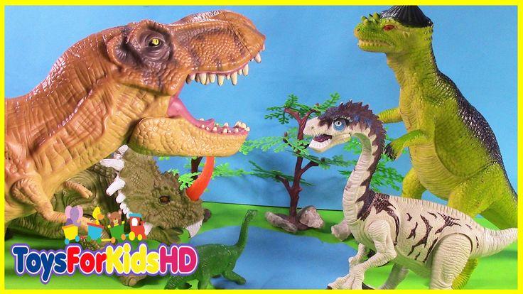Los Dinosaurios para niños El T-Rex Amistoso - Videos de Dinosaurios Toy...