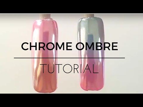 How to Chrome nails tutorial ombre gradient fade - YouTube