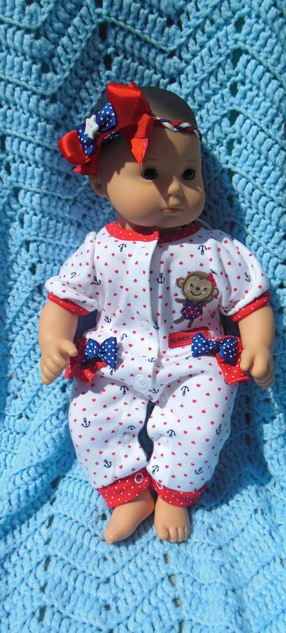 BITTY BABY GIRL All American Cutie 15 inch doll by TheDollyDama, $16.00