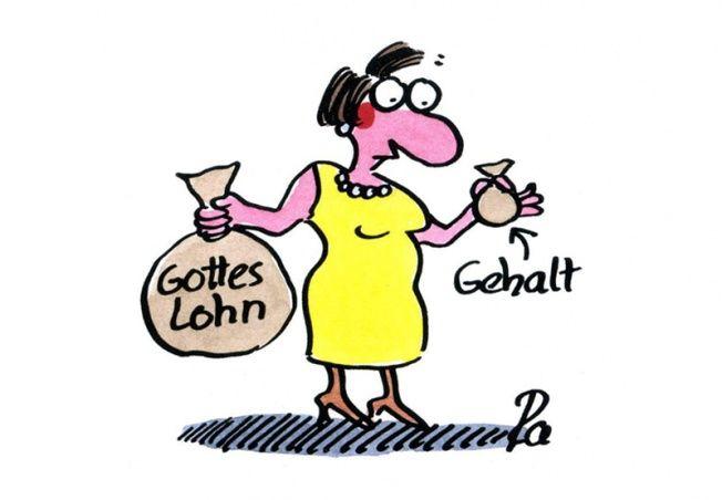 Kindergarten_KiGaPortal_Cartoon_Renate Alf_Gottes Lohn