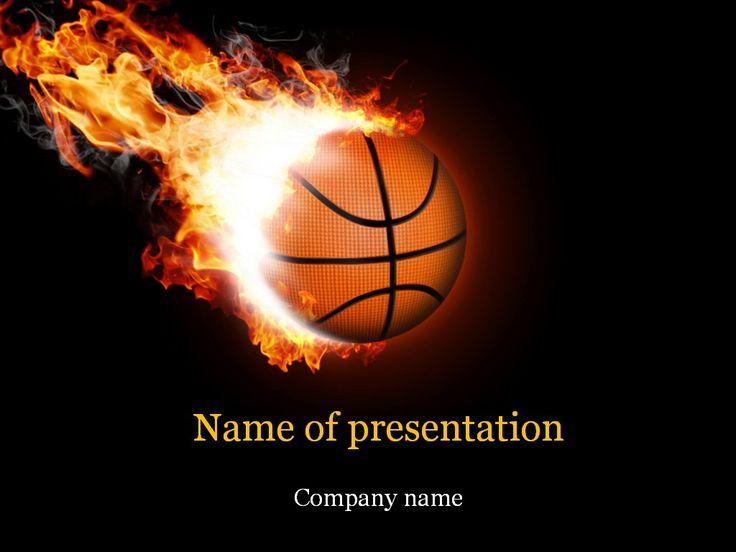 Basketball Ball PowerPoint Template Templates Pinterest - basketball powerpoint template