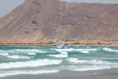 El Tur, Egypt is a unique windsurfing destination with its flat water and many days of wind.