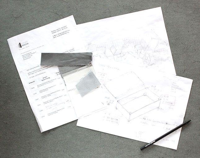 Das Making Of von meinem Sitzpodest: Skizzen