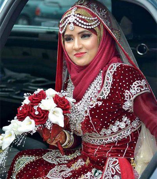 100+ Muslim Wedding Dresses with Hijab #Muslim #Wedding #Dresses