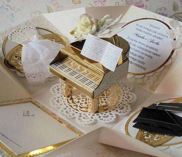 belle art, piano, exploding box, wedding
