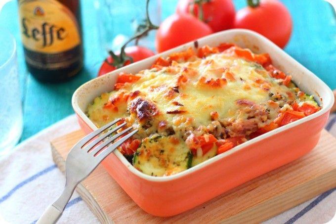 Pastel de atún y verduras - quitando el queso mmmm