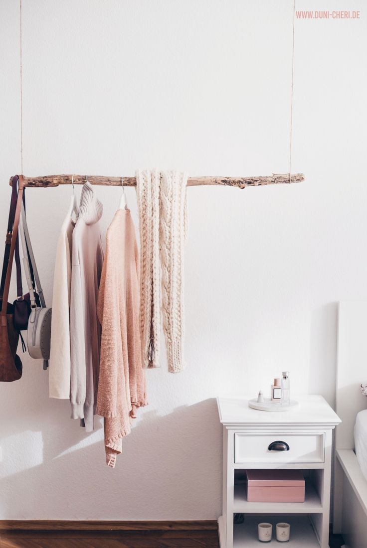 Clothes rail branch bedroom diy  – do it yourself!