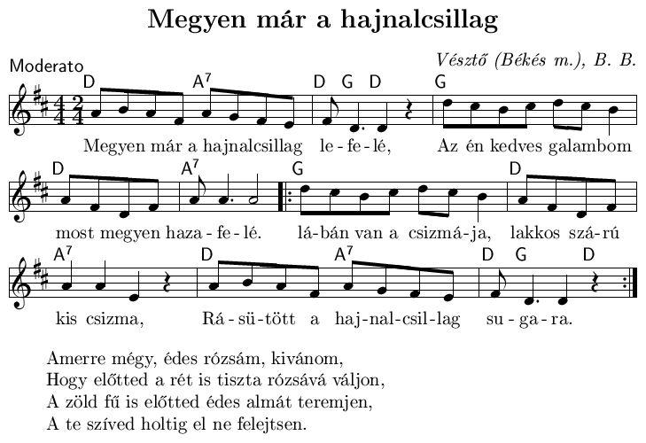 Megyen már a hajnalcsillag Hungarian folk