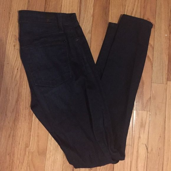 7 For All Mankind Gwenevere dark wash jeans Very dark, very sexy. Perfect quality and barely worn. 7 for all Mankind Pants Skinny