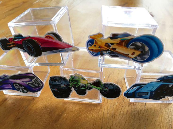 Carrinhos para tubete ou caixa de acrílico Festa Hot Wheels Battle Force 5   Design Festeiro