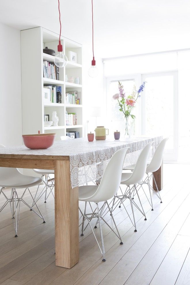 Not a fan of the lace but I love the timber table and white chairs